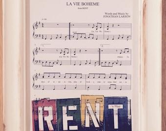 Rent Print - La Vie Boheme