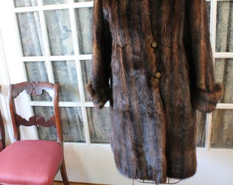 1980's Muskrat Coat with Convertible Length