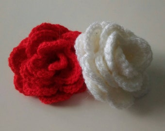 Handmade pink red white knitting sewing crochet creative hobby accessories