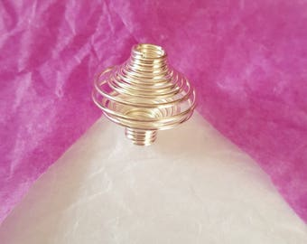 CAGE to BEAD silver plated 14X16mm. (8130094)