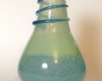 Studio Blown Glass Vase Bottle