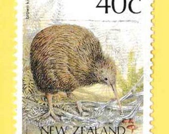 Kiwi Bird-New Zealand Stamp-frame included