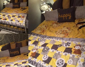 Handmade Patchwork Bed Runner/Throw