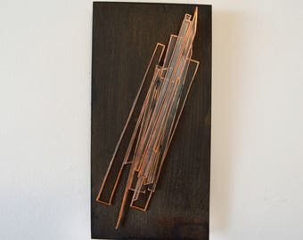Glass Sculpture - Hanging Wall Art - Abstract Art