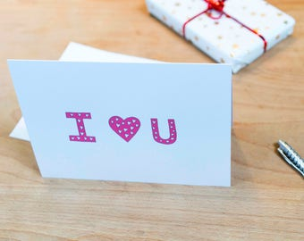 I <3 U Valentines Card