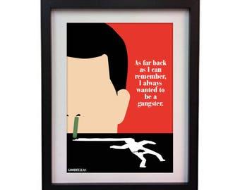Goodfellas original art print poster (instant download)
