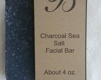Charcoal Sea Salt Facial soap bar