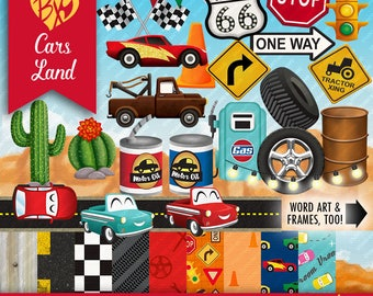 Cars Land FULL KIT (clip art & papers)
