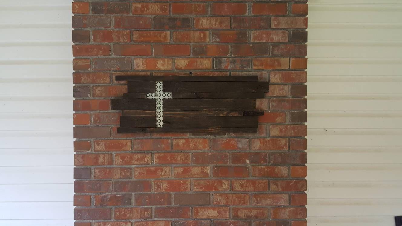 Cutout rustic cross wall art reclaimed wood cross wall art zoom amipublicfo Gallery