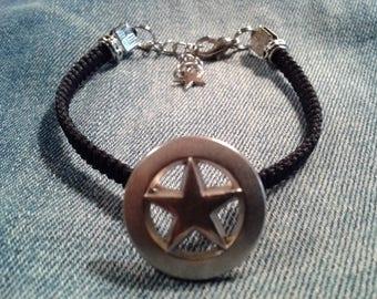 Star Black macrame bracelet
