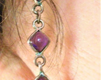 Amethyst dangle earrings on Silver 925/000