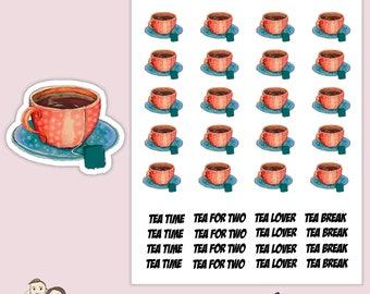 WATERCOLOUR TEA CUP Planner Stickers/ Happy planner/ Eclp/ Erin Condren life/ Mug/ scrapbooking/ Kikki K/ Filofax/ Foxy Fix S159
