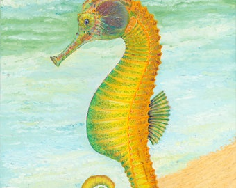 Seahorse Archival Giclée Prints on Canvas and Fine Art Paper