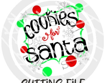 Cookies for Santa, Milk for Santa, Cookie plate, Milk bottle, Christmas SVG, Treats for Santa, Printable, Sublimation