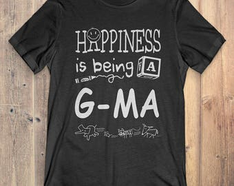 G-Ma T-shirt: Happiness is being a G-MA gift for grandma / Mother's Day