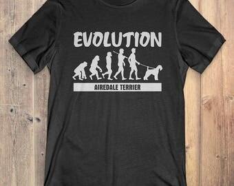 Airedale Terrier Custom Dog T-Shirt Gift: Airedale Terrier Evolution