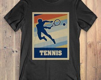 Tennis T-Shirt Gift: Vintage Style Tennis