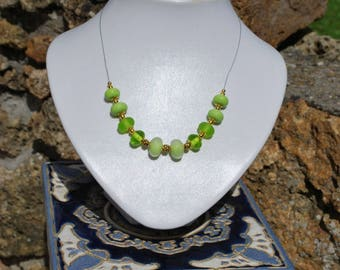 """""""Green Apple"""" necklace."""