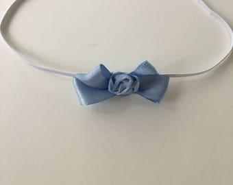 Satin bow baby hairband