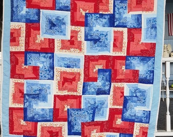 Red & Blue Square Quilt