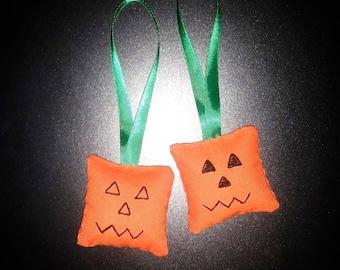Hanging pumpkin Jack o' Lantern