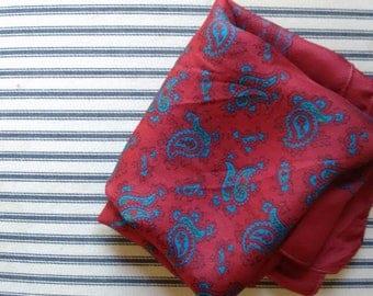 Silk Paisley handkerchief