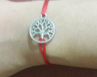 Tree of life bracelet red thread