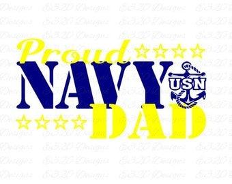 Proud Navy Dad SVG File