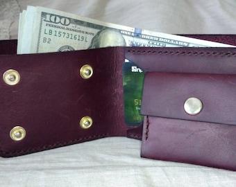 Leather wallet. 100% handmade. stasavramenko3@gmail.com