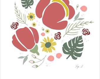 Floral Bouquet Print -- Figure 3