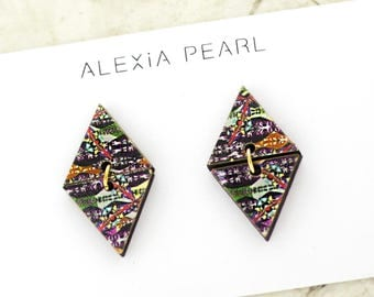 Earrings Artsy Triangles • Gifts for Her • Dangle Earrings • 2018 Trends