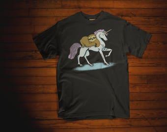 Sloth Riding A Unicorn Funny Animal Gift T-Shirt