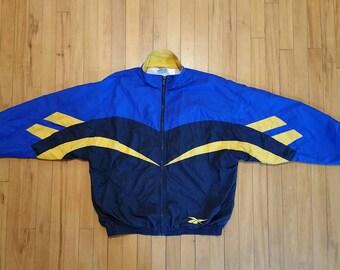 Vintage Reebok Windbreaker Jacket / Size Medium / Vintage 90s Reebok / Vintage Warmup Jacket / Reebok Classic