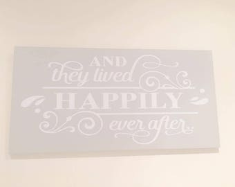 And They lived Happily Ever After- Vintage Style Wooden Plaque