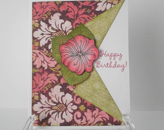 Handmade Greeting Card Happy Birthday,
