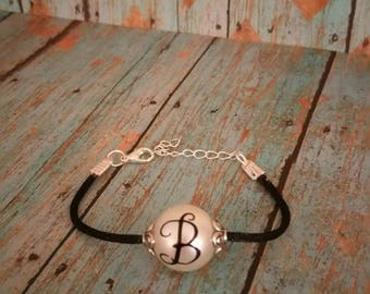 Personalized Initial faux Peal Bracelet