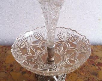 Art Nouveau of the Val St Lambert Crystal centerpiece