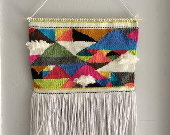 triangle wallhanging-SAMPLE ONLY-made to order-woven wall hanging, wall art, boho wall hanging, art, textile art