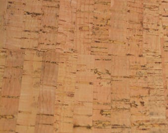 NATURAL Cork Fabric (U.S.A Supplier) - Made in Portugal - Vegan - Sustainable - Leather Alternative - PETA approved