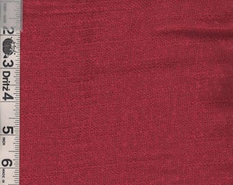 Vintage Red Linen  Fabric