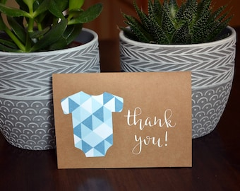 Baby Shower Thank You Cards // Baby Shower Cards // Girl, Boy, Gender Neutral Thank You Card // Baby Onesie Thank You Card // Set of 10