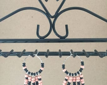 Pink and black hoops