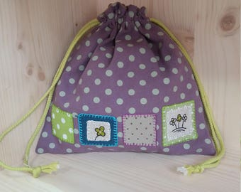 Snack bag / purse polka dot blanket