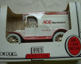 ERTL 1913 Model T Bank Truck Die-Cast Metal ACE Hardware
