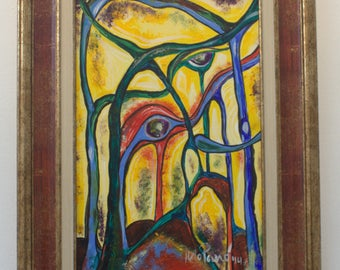 Original abstract forest