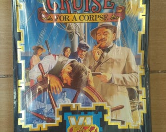 Vintage Computer Game Cruise For a Corpse for PC 1991, New packed, Not openned, Collectible Big Box, Old game, 1990's