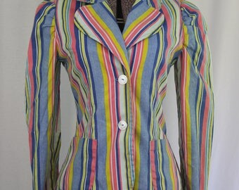 Crazy Colorful 1970's Blazer Jacket
