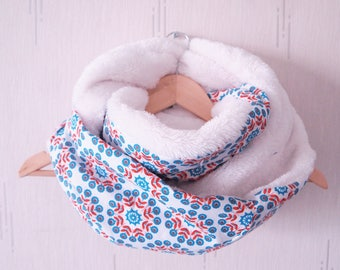 Snood collar double XXL convertible hood, fur, fabric blanket, soft hair minkee