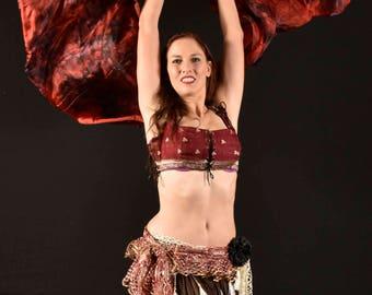 Ravishing Red - Hand Dyed Silk Veil