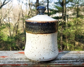 Speckled Pottery / Ceramic Jar with Lid / Ceramic Kitchen Storage / Wheel Thrown Jar / Stoneware Jar / Handmade Ceramic Jar